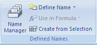 This is where you define names in Excel